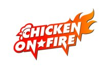 Chicken on fire